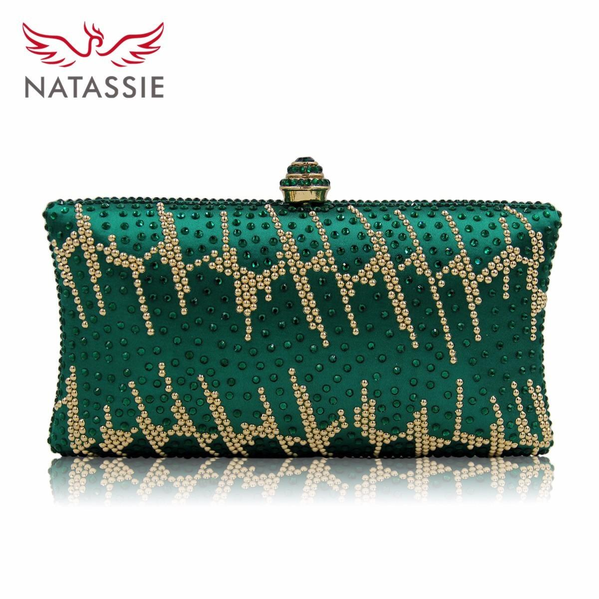 Natassie New Diamond Women Clutches Ladies Evening Bags Girl Party Wedding  Purse Noble Royal Blue Clutch Bag With Chain Bags with Evening Bags Bag  with ... a920d9cf94ad