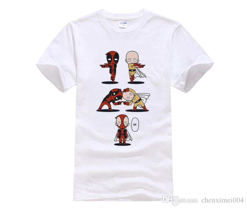 Compre Camisetas Anime One Punch Man Saitama Mens T Shirts Algodón Peinado  Digital Casual Tees Homme Manga Corta Personalizado A  14.21 Del  Chenximei004 ... d9965c51fb2f9