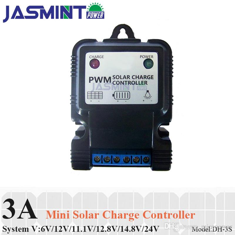 2019 3a 6v 12v Auto Solar Panel Charge Controller Battery