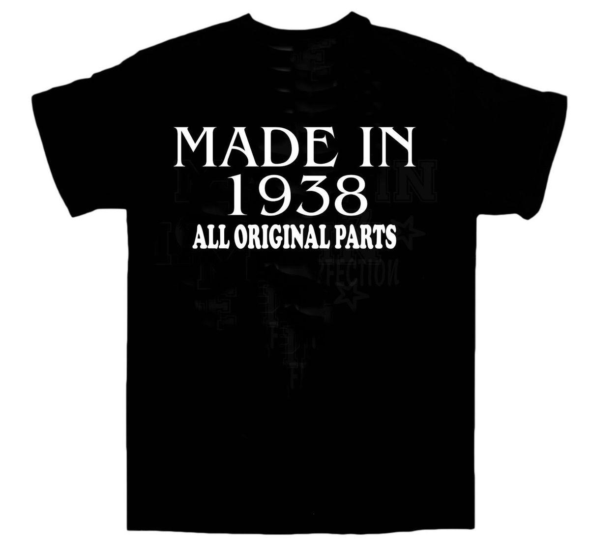 80th Birthday T Shirt Made In 1938 Aop