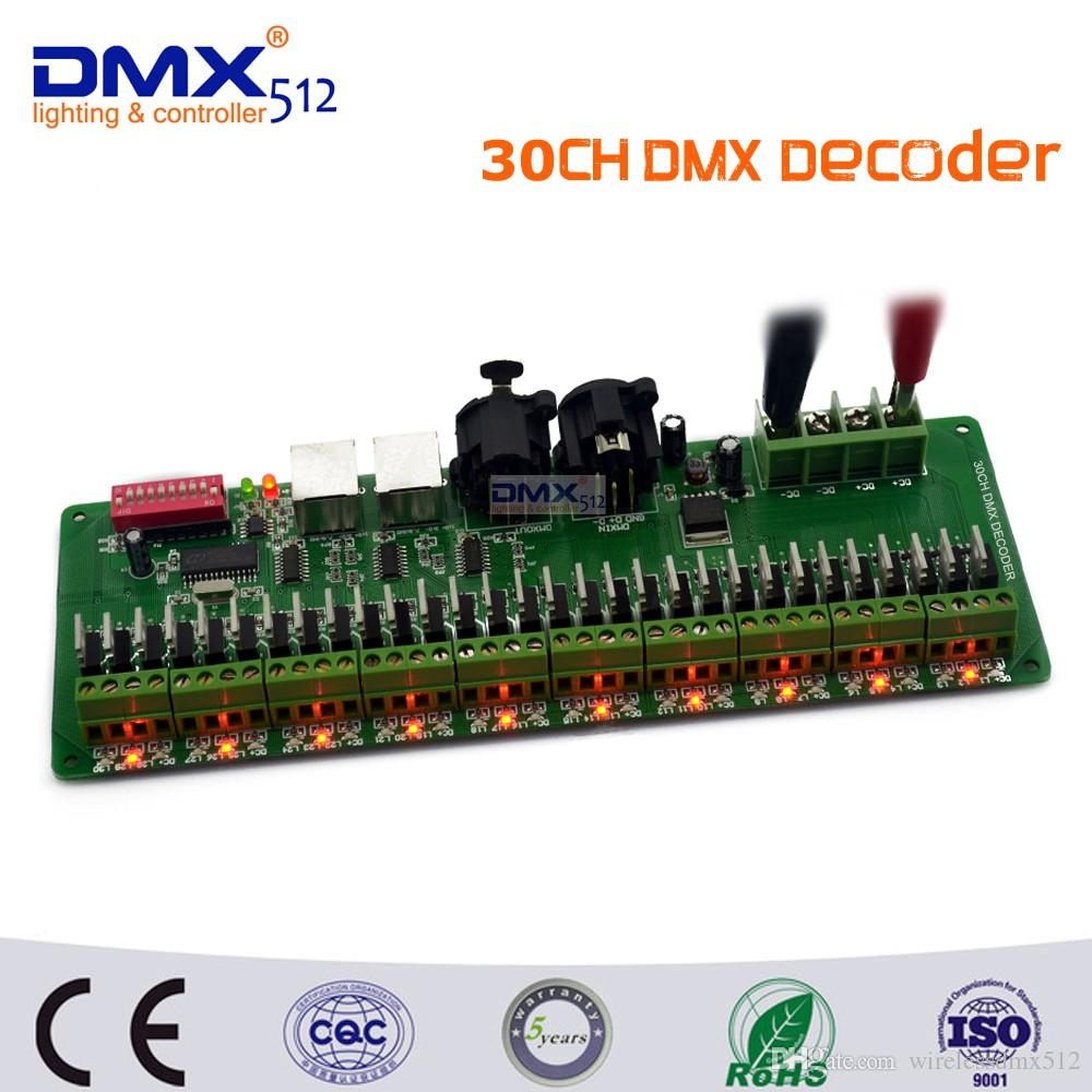 2018 30 Channel Easy Dmx Rgb Led Strip Controller Decoder Dmx512 Ledstrip Programming Controlador Dimmer 12v Console From Wirelessdmx512 382