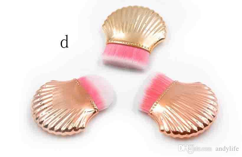Le maquillage de base brosse le cosmétique de poudre de fard de contour de Shell outils