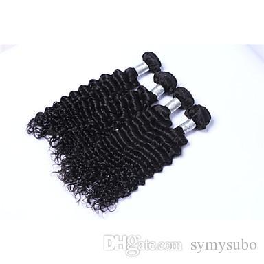 Malaysian Deal Da 10 a 30 Inch Estensioni di capelli ricci non trattati di Remy Estensioni 100% di capelli umani