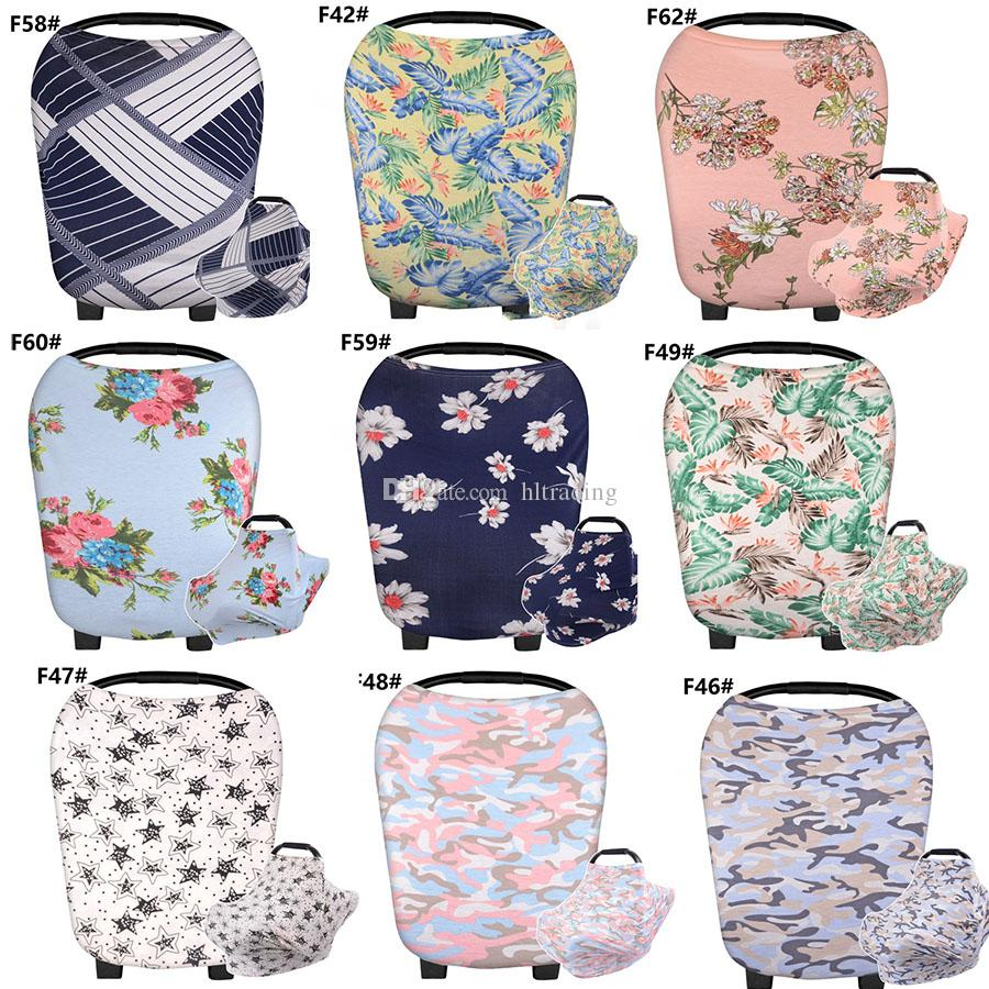 Baby Nursing Sunshade Cover Blanket Floral stripes Wavy pattern Stroller cover Infant carrier Sun protection Cover 44 styles C3487