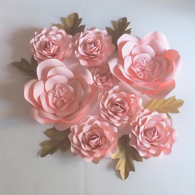 2018 baby pink giant paper flowers leaves for wedding event 2018 baby pink giant paper flowers leaves for wedding event backdrop baby nursery baby shower fashion show from diyunicornflowers 8362 dhgate mightylinksfo