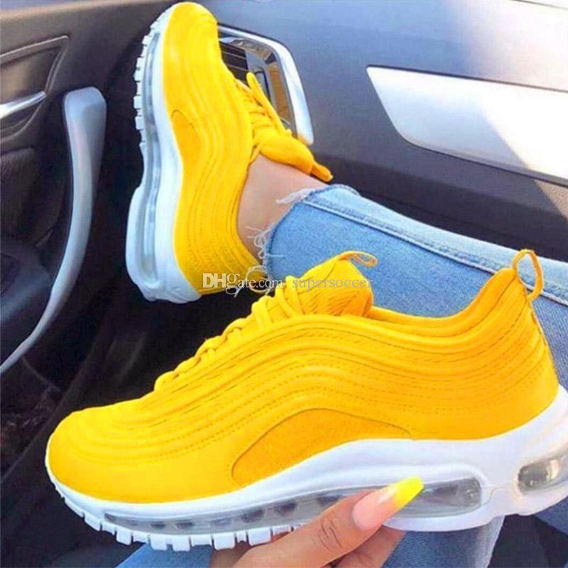 online store d6ce7 22bed Compre Nuevo Color 97 Zapatillas De Deporte Zapatillas De Deporte Mujer 97  Zapatos Zapatillas De Deporte De Diseño 97s Amarillo Hombre Zapatos  Deportivas ...