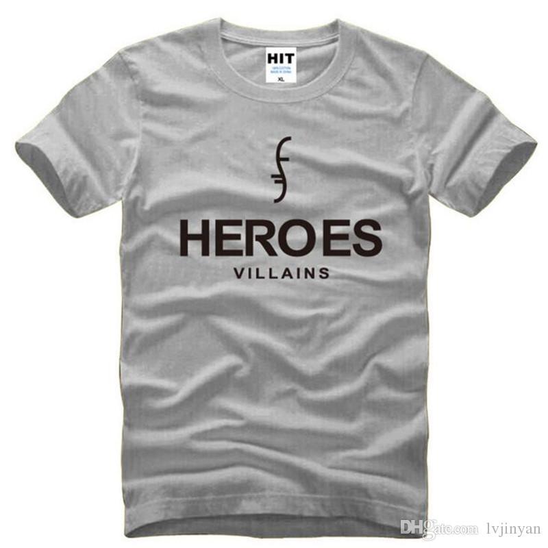 American Super Hero HEROES Impresso T Camisas Dos Homens Novos de Verão de Manga Curta O Pescoço de Algodão T-Shirt dos homens de Moda Masculina Fãs Tops Tees