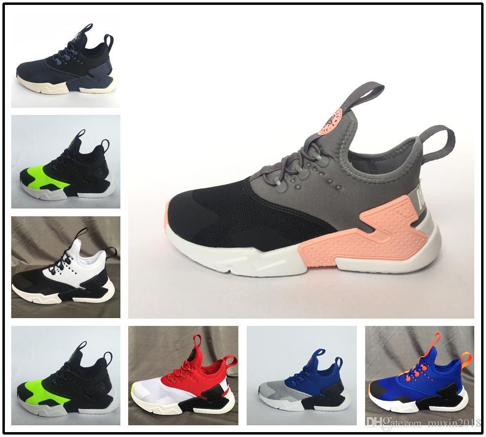 buy popular fa80e 54fd7 Acheter Nike Air Max Huarache Shoes 2018 Date Kids Air Huarache Sneakers  Chaussures Pour Entraîneurs Enfants Garçons Huaraches Sport Chaussures De  Course ...