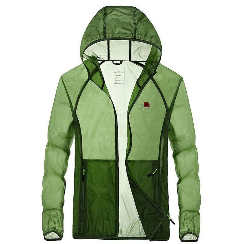 men jacket Spring summer Men Anti-ultraviolet waterproof raincoat quick-drying transparent Prevent bask clothes