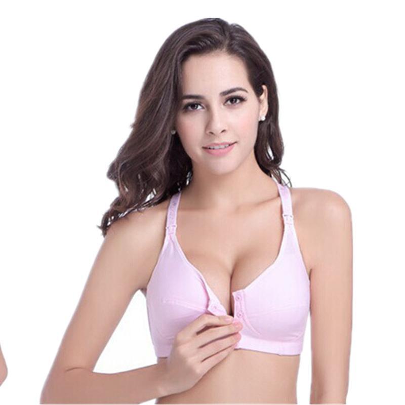 c9ec8e41ca New Cotton Maternity Nursing Bra Breast Feeding Bras for Pregnant ...