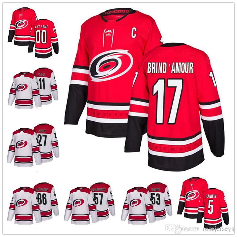 Carolina Hurricanes  17 Rod Brind Amour 2 Glen Wesley 10 Ron Francis 2018  NEW Red Home White Retired Player Stitched Hockey Jerseys S 60 UK 2019 From  ... b24ff47fb