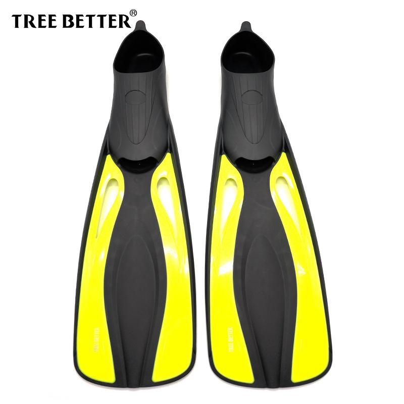 TREE BETTER Swimming Fins Training Diving Fins Silicone Soft Snorkeling  Flipper Long Foot Submersible Frog Shoes Yellow XS XL UK 2019 From  Cloudyday c8c8c0e58