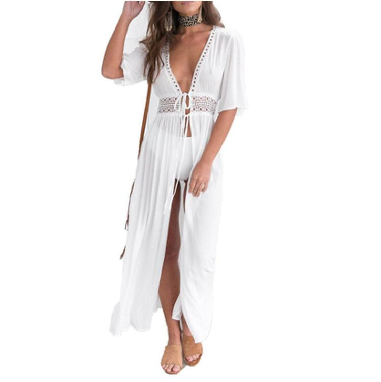 fc5214d97823c Pareo Beach Cover Up Embroidery Bikini Swimsuit Cover Up Robe De ...