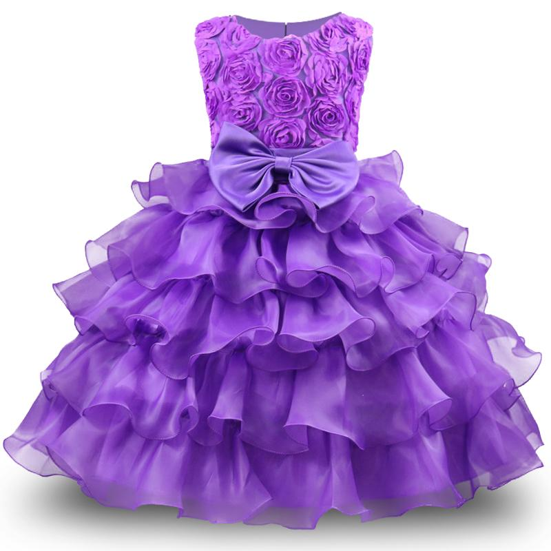 Baby Girl Dress For Girls 2017 Formal Princess Costumes Children Wedding Dress Tulle Puffy Kids Party Dresses for Girls Clothing