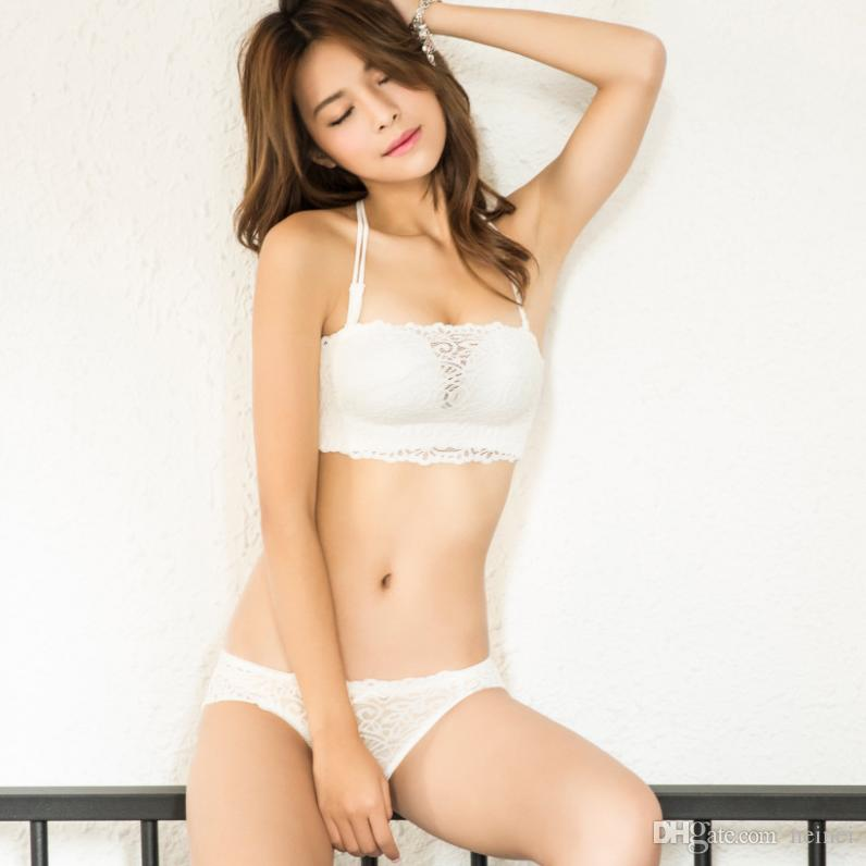 5fce7a209ce Seamless Hollow out Sexy Y-line Straps Female Underwear Set Lace ...