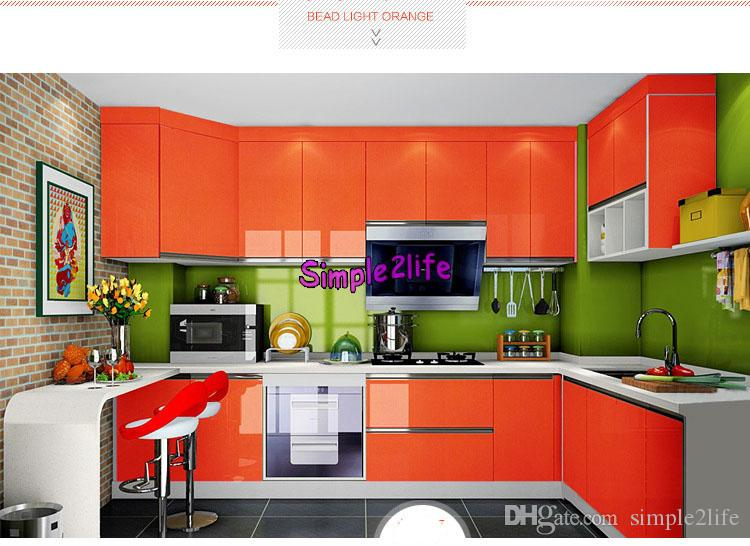 60cm Width Glossy Paint Furniture Stickers Removable Vinyl Diy Decor Mural Decals Art Kitchen Cabinet Wall Sticker For Kitchen