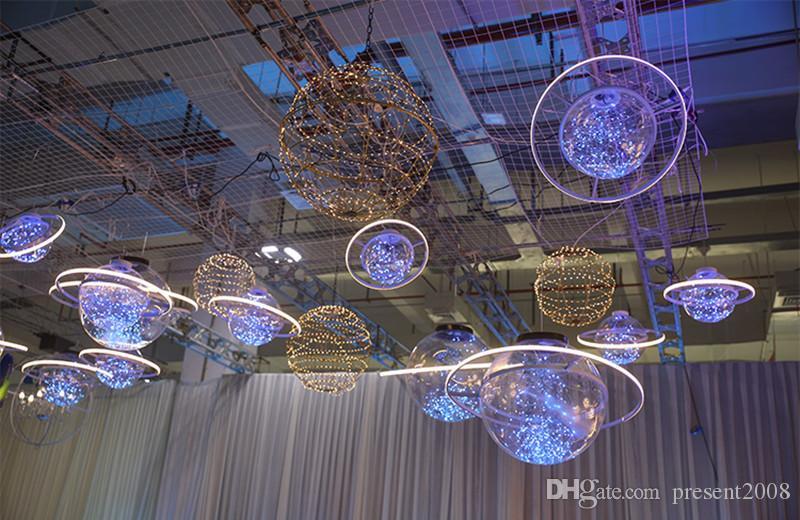 Yeni varış Parlaklık LED flaş Yıldız topu düğün vitrin Dekorasyon Uzay gezegen asılı süsleme avize ücretsiz kargo