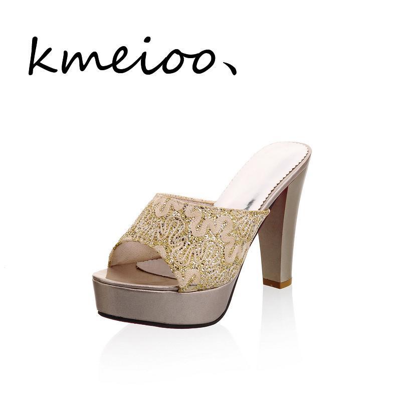 5bc6aee08ca42 Acheter Kmeioo Femmes Sexy Mules À Talons Hauts Sabots Noir Bouche De  Poisson Cheville Haut Mules Mules Pantoufles Femme Slip On Sandal  Chaussures De  61.9 ...