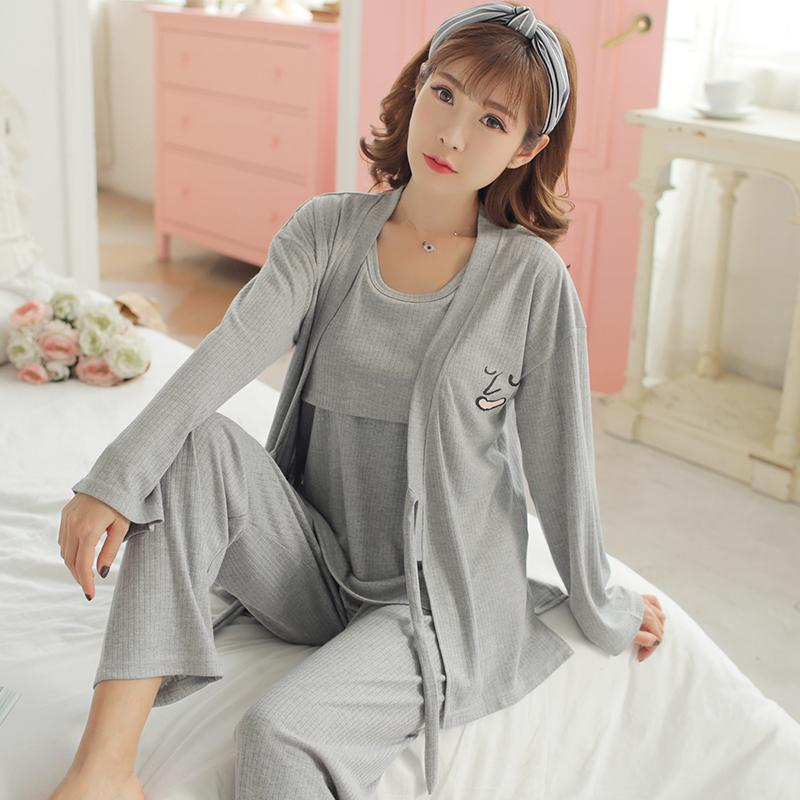 a62a9f75c4783 2019 05959# Cotton Maternity Nursing Nightwear Autumn Winter Breastfeeding  Sleepwear For Pregnant Women Pregnancy Pajamas From Bradle, $42.37 |  DHgate.Com