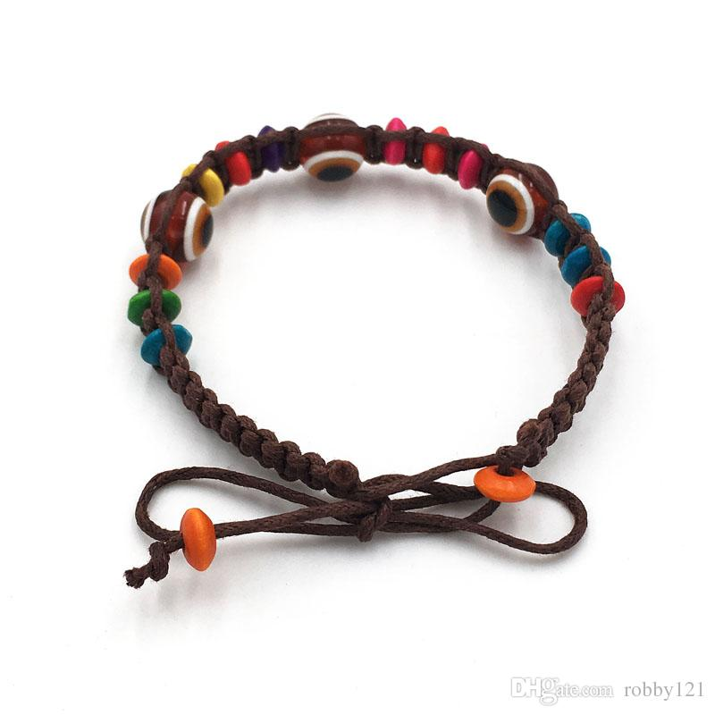 Wholesale Evil Eye Bead Bracelet Creative Life Handmade Talismanic Good Luck Charm Protection Bracelet Fashion Jewelry