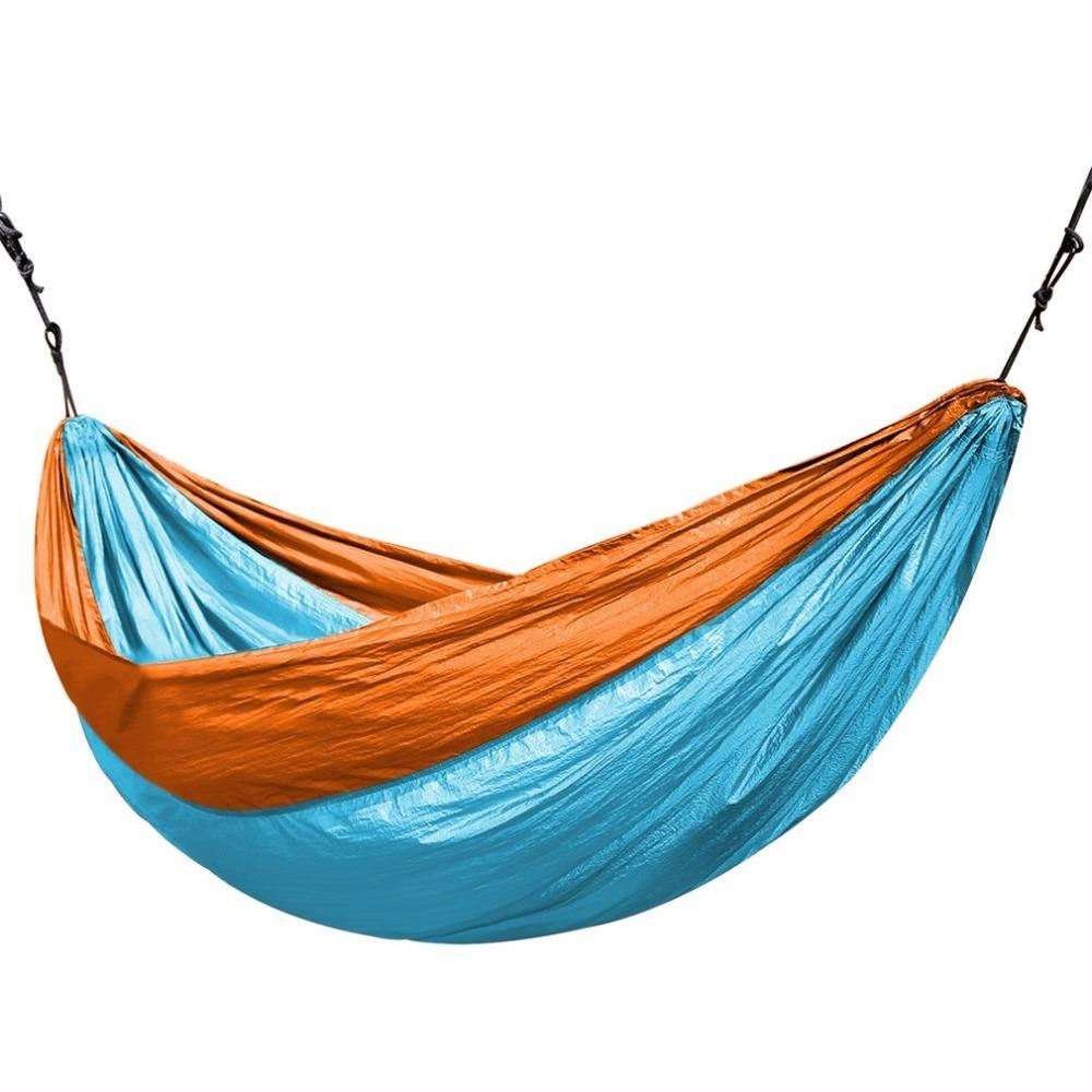 631fe590e6 3.2 2M Larger Size Double Color Nylon Camping Hammock Lightweight Portable  Summer Beach Travel HammockOUTAD Hammocks Cheap Hammocks 3.2 2M Larger Size  ...