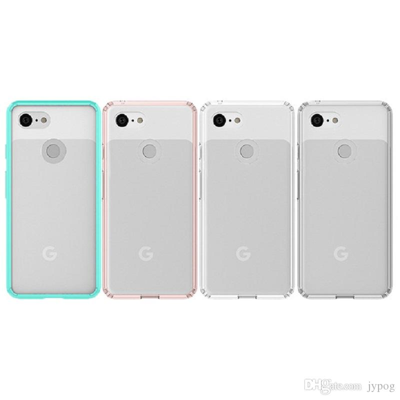 the latest a5af3 28c1e For Google Pixel 3 Case 2in1 Clear TPU material and Poly Carbonate Prevent  scraping Series For Google Pixel 3 XL