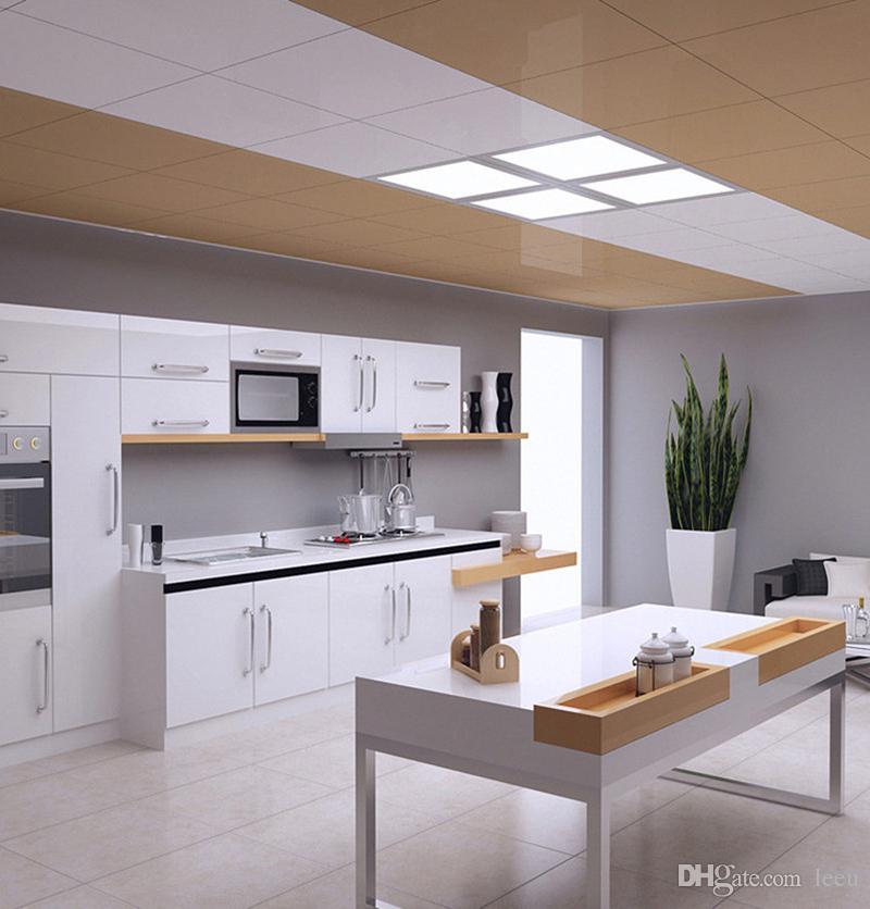 24W LED لوحة ضوء 300x300 مربع lampada عالية مشرق بقيادة مصباح السقف داخلي أبيض / أبيض دافئ مع سائق بقيادة للماء