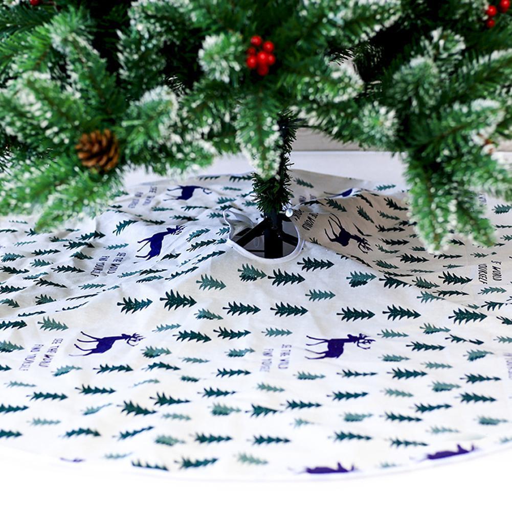 Weihnachtsbaum Weihnachten.Weihnachten Tuch Dekorative Baum Rock Weihnachtsbaum Unter Dekoration Weihnachtsdruck Baum Rock Durchmesser 120 Cm