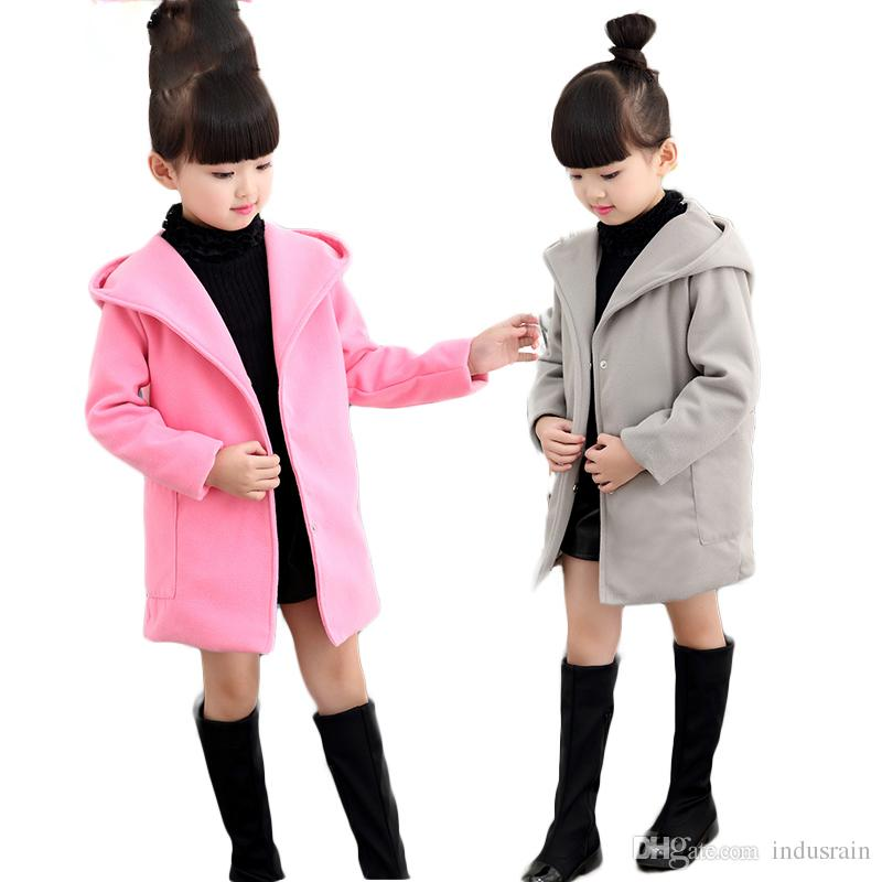 7461dad86ee9 Girls Clothes Trench Coats Jackets For Clothing Tops Kids Children s ...