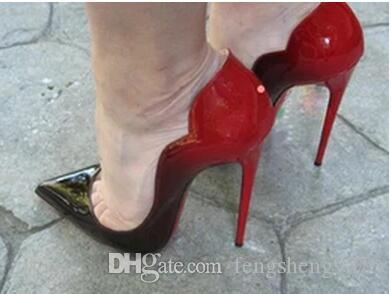 aa8b35e452 Brand Women Shoes Red Bottom High Heels 12CM Sexy Pumps Shoes For Women  Patent Leather High Heels Wedding Shoes Woman High Heel Formal Shoes Cheap  Shoes For ...