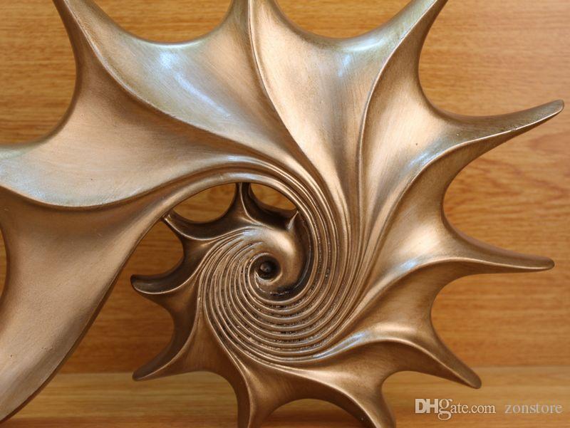 Longree Resin Sea Shell Figurines Vintage Design Resin Ornament Animal Figurine Home Decor Home Decoration Acccessories