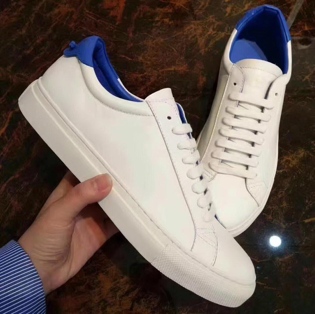 dcc7d6deca 2018 New Fashion White Leather Low Top Sneakers With Knot Detail ...