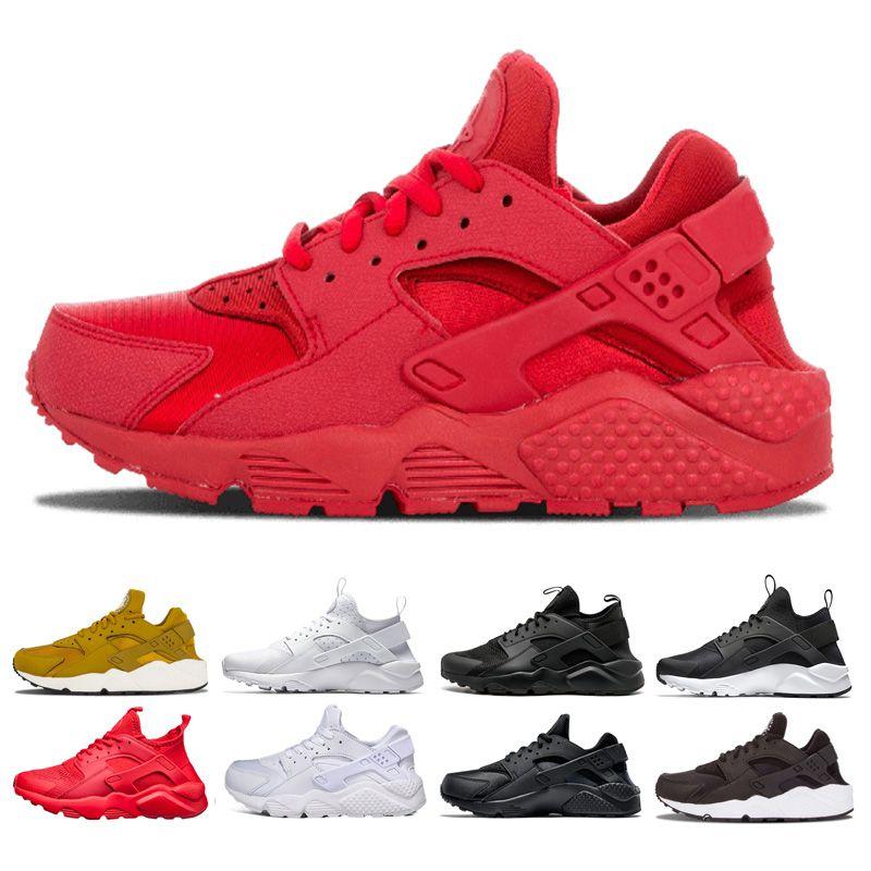 41e5b7daf7c50 2018 Huarache 1 IV 4 Mens Running Shoes Ultra Run Triple White Black ...