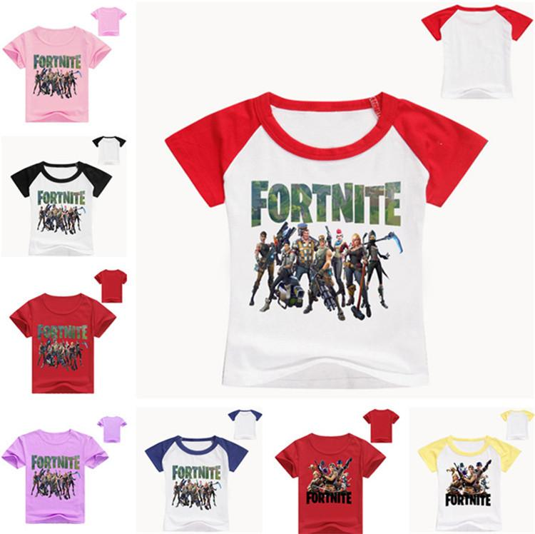 458041e3 Summer Kids T-shirt Fortnite Battle Royale Comfortable Cotton Short ...
