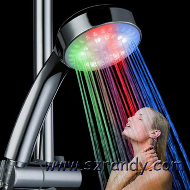 Cooperative Led Shower Head Color Changing Shower Head No Battery Bathroom Accessories Round Bathroom Showerhead Freeship Home Improvement