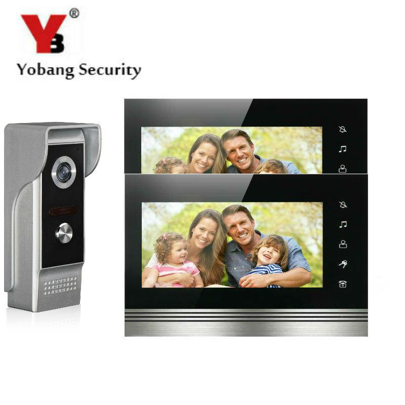 Yobangsecurity 7inch Touch Screen Video Door Phone Doorbell Intercom