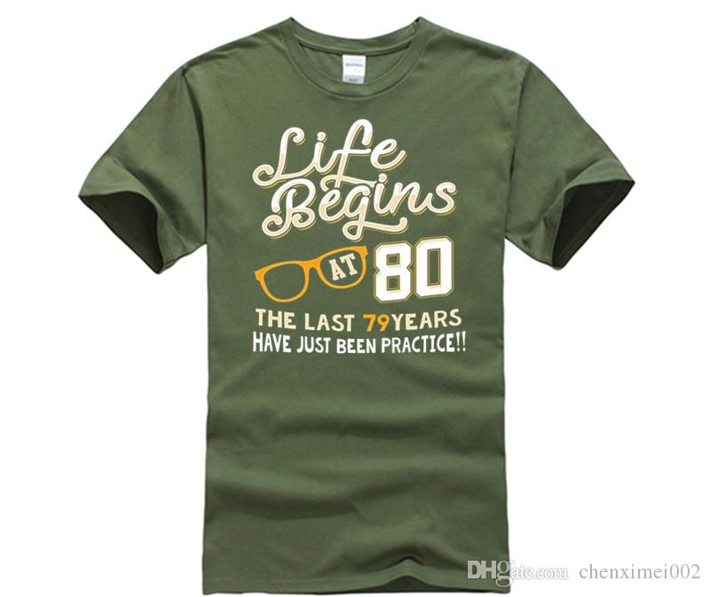 Life Begins At 80 Years Old Cool 80th Birthday Gift T Shirt Shirts In A Day Awesome Tee Designs From Chenximei002 1421