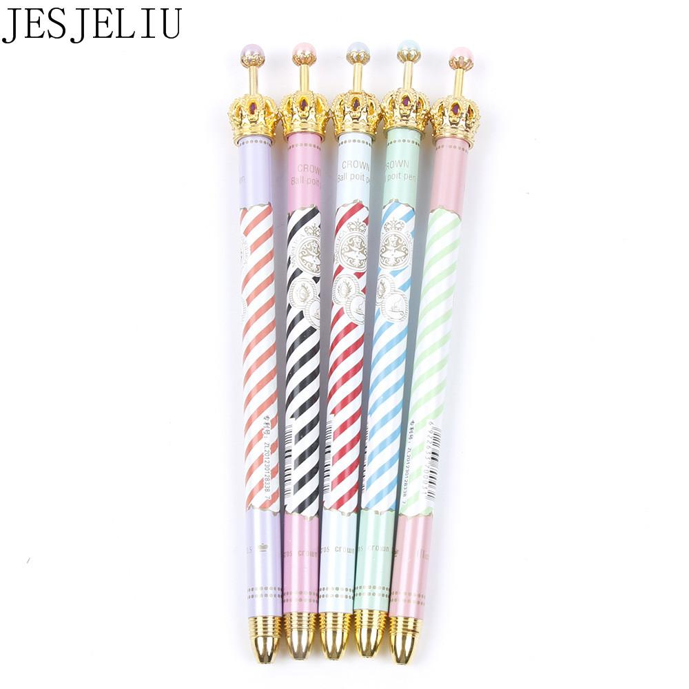0.5mm Black Ink Ballpoint Pen Cute Crown Gel Pens Dot Pen For Kids Students  Writing Office School Supplies Personalized Ink Pens Gold Pens From  Pureairr cc30872df00f