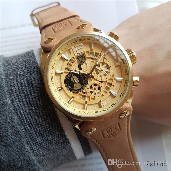 7420685f61543 2018 Top Brand Hot Sale Famous Man Watch Leather Women Fashion Dress Watch  Herm Luxury High Quality Stainless Steel Small Dial Can Work Best Deals On  ...