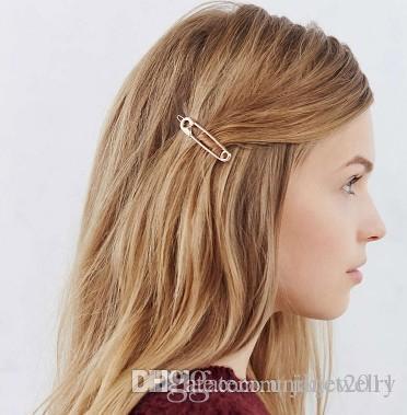 Novelty Clip Hair Clips Silver Gold Tone Headwear Geometric Hair
