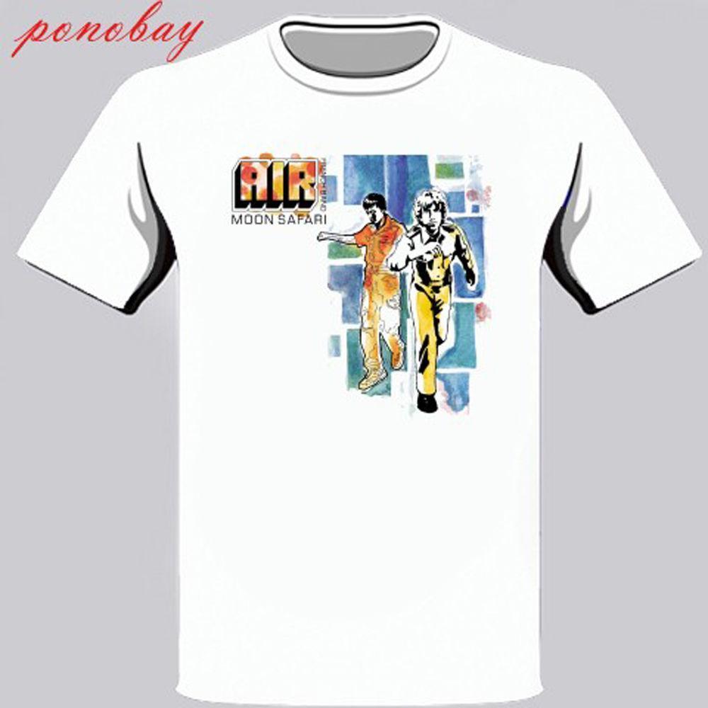 c348f5e7cf0d26 AIR FRENCH BAND Moon Safari Electro Rock Band Men S White T Shirt Size S 3XL  Funny T Shirts Mens Shirts From Amesion34