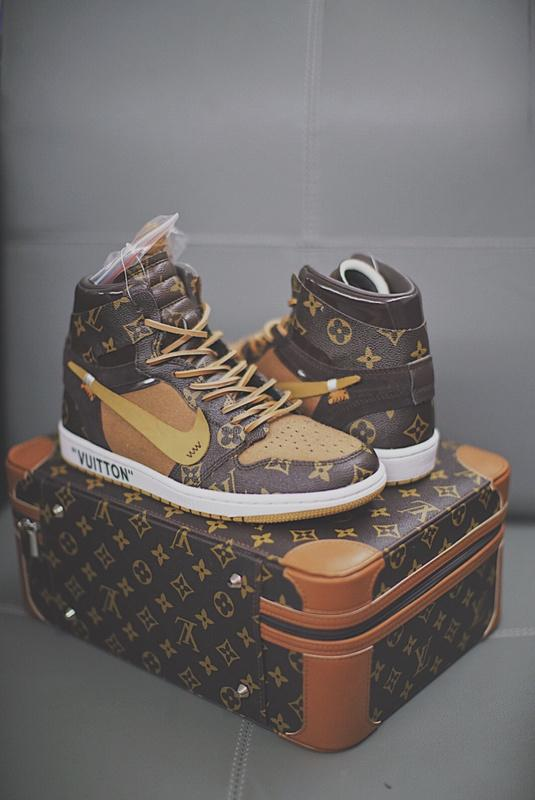 c513b83a5cb6 LOUIS VUITTON Off White Airs Jordan 1 Pinnacle AJ1 Running Shoes Men Top  Casual Sneakers Basketball Shoes Have Luggage Bag Box Balenciaga LV Summer  Shoes ...