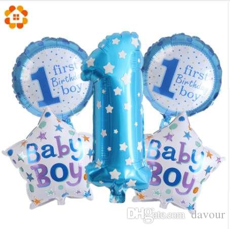 1st Birthday Party Balloons PinkBlue Foil Gifts Kids Decoration Baby Shower Supplies Toys Balloon Materials Biggest