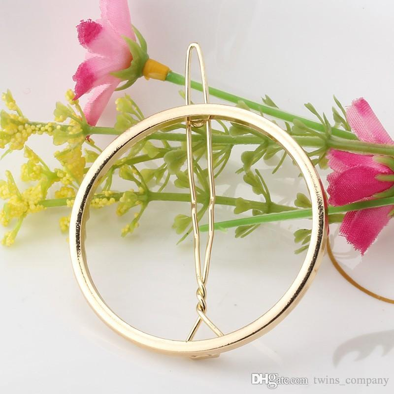 New Brand Hairpins Triangle Moon Hair Pin Jewelry Lip Round Hair Clip For Women Barrettes Head Accessories Bijoux De Tete