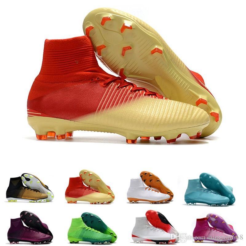 Compre Zapatillas De Fútbol Para Hombre High Top Mercurial Cr7 Superfly V Fg  Botas De Fútbol Para Niño Magista Obra 2 Zapatas De Fútbol Para Jóvenes ... e6e2f27d074e2