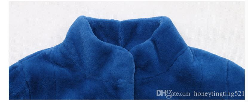 New fashion design women's winter warm stand collar long sleeve solid color faux rex rabbit fur maxi long fur abrigos coat parkas 6XL