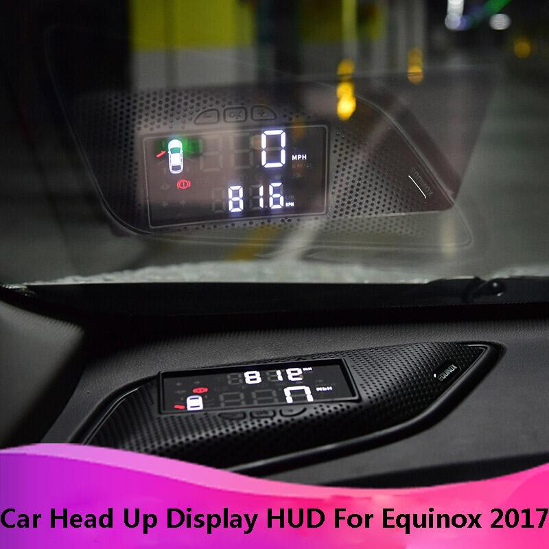 Kust Car HUD Head Up Display for for Equinox 2017 Multifunction OBD HUD Display Equinox 2017 Auto Accessories