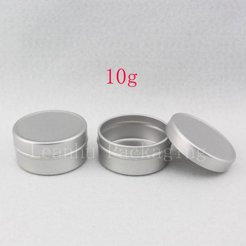 10g round empty cream aluminum jar lids for personal care packaging , aluminum box in cosmetics cream ,aluminum can 100pc/lot