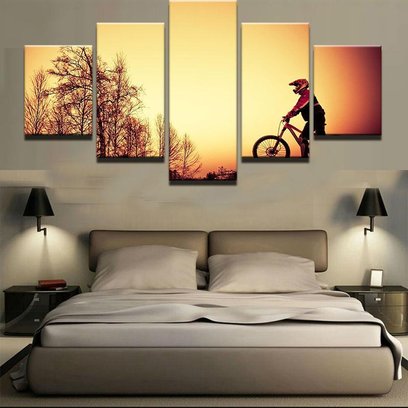 2018 Painting Fashion Canvas Wall Art Prints Home Decoration 5 Panel ...