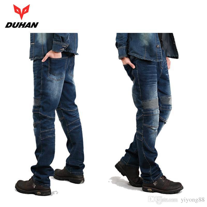 HosenD18 Motorrad Moto Duhan Jeans Knie Windproof Casual